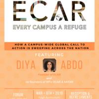 Every Campus a Refuge (ECAR) Forum, Featuring ECAR Founder Diya Abdo and co-founders of ECAR@Wake and SAFAR