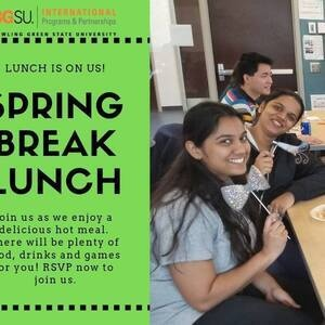 Spring Break Lunch for BGSU Global Falcons