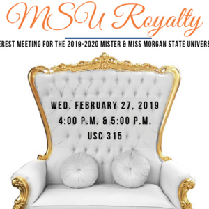 2019 Mister & Miss Morgan State University Pageant