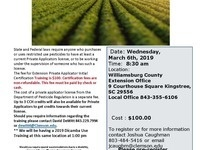 Private Pesticide Applicator Training and Exam