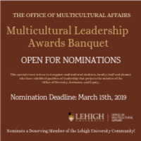 Submit a Nomination: Multicultural Leadership Awards Banquet | Multicultural Affairs