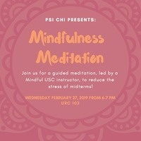 PSI CHI PRESENTS: Mindfulness Meditation