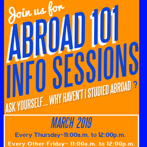 Study Abroad 101 Information Sessions