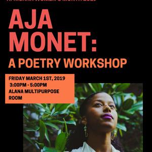SORT Poetry Workshop with Aja Monet