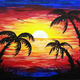 Paint and Sip: 4/7: Tropical Paradise ~ Ages 21 and up ~