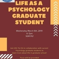 PSI CHI: LIFE AS A PSYCHOLOGY GRADUATE STUDENT
