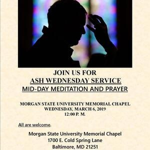 Ash Wednesday / Mid Day Meditation and Prayer
