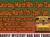 19th Annual Saint Patrick's Day Weekend BarFly Bus Tours