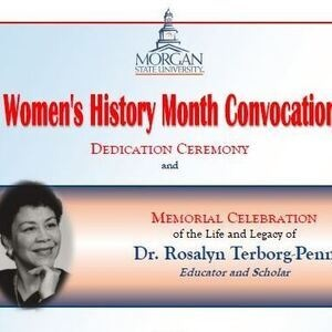 Terborg-Penn Memorial  and Women's History Month Convocation