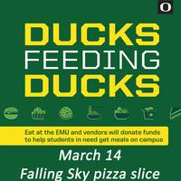 Ducks Feeding Ducks: Falling Sky Pizzeria