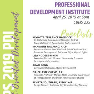 Professional Development Institute: Transit-Oriented Development in Baltimore