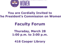 Women's Commission Faculty Forum