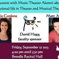 Discussion with Music Theater Alumni