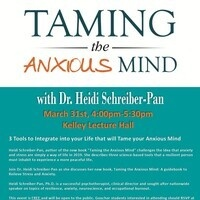 Taming the Anxious Mind  - discussion and book signing