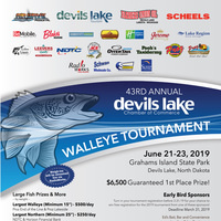 43rd Annual Devils Lake Chamner Fishing Tournament