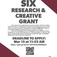 SIX Research & Creative Grant