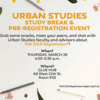 Urban Studies Study Break & Pre-Registration Event