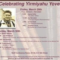 Celebrating Yirmiyahu Yovel