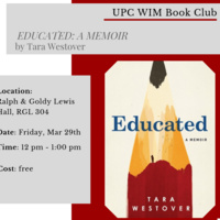 Women in Management - UPC Book Club – Educated by Tara Westover