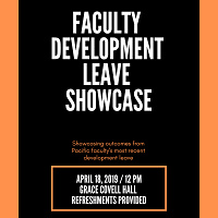 2019 Faculty Development Leave Showcase