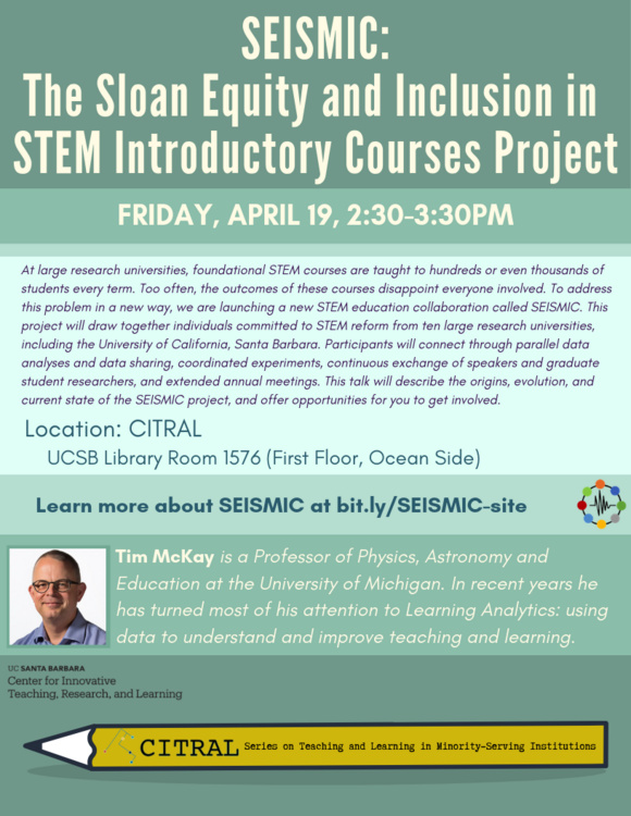 SEISMIC:  The Sloan Equity and Inclusion in STEM Introductory Courses Project