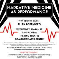 Narrative Medicine as Performance with Ellen Rosenberg