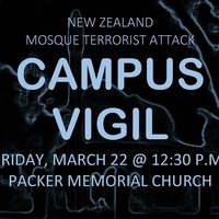 Campus Vigil for New Zealand | Chaplain's Office