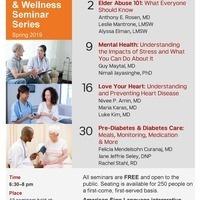 Pre-Diabetes & Diabetes Care: Meals, Monitoring, Medication & More; Spring 2019 Health and Wellness Seminar Series