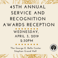 45th Annual Service & Recognition Awards Reception