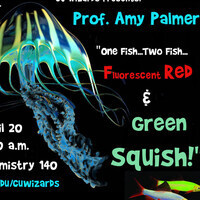 """CU Wizards! """"One Fish...Two Fish...Fluorescent Red & Green Squish!"""""""