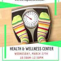 Weight Analysis Weds 3/27/19 10:30-12:30pm   Dining Services