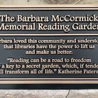 Barb McCormick Memorial Reading Garden Ribbon Cutting and Dedication