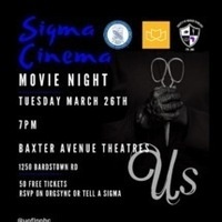 """Us"" Movie Showing with The Sigmas"
