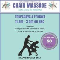 $8 30 minute chair massage
