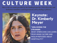 Arab & Muslim Culture Week, Keynote by Kimberly Meyer