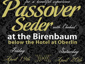 flyer advertising Seder festivities