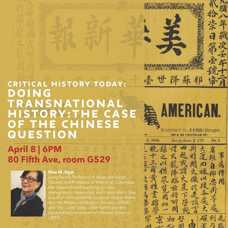 Critical History Today: Doing Transnational History: The Case of the Chinese Question