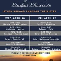 Study Abroad Student Showcase