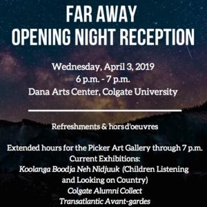 Far Away Opening Night Reception