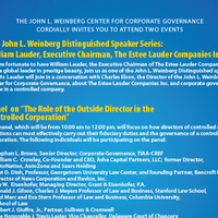 "Panel - ""The Role of the Outside Director in the Controlled Corporation"""