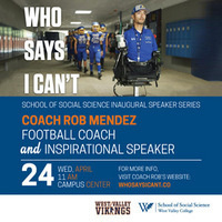 Guest Speaker Rob Mendez – Football Coach and Inspirational Speaker