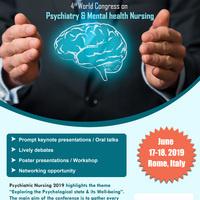 4th World Congress on Psychiatry & Mental health Nursing
