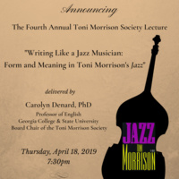 Fourth Annual Toni Morrison Society Lecture at Oberlin