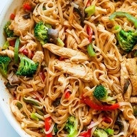 C-Cubed Luncheon - Thai Stir Fried Noodles with Chicken or Tofu