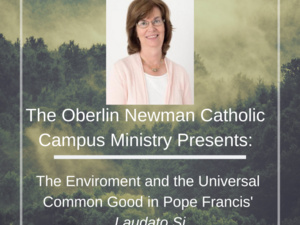 Flyer for Oberlin Newman Catholic Campus Ministry