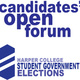 Student Government Election Candidates' Open Forum
