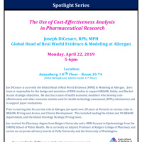 The Use of Cost-Effectiveness Analysis  in Pharmaceutical Research