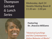 Regina Thompson Lunch & Lecture Featuring Dr. Jhacova Williams