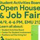 Student Activities Board Open House