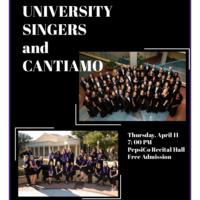 Ensemble Concert Series: University Singers and Cantiamo.
